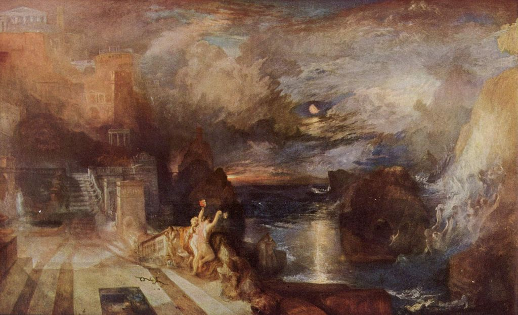 Ηρώ και Λέανδρος, ο αποχαιρετισμός 1837