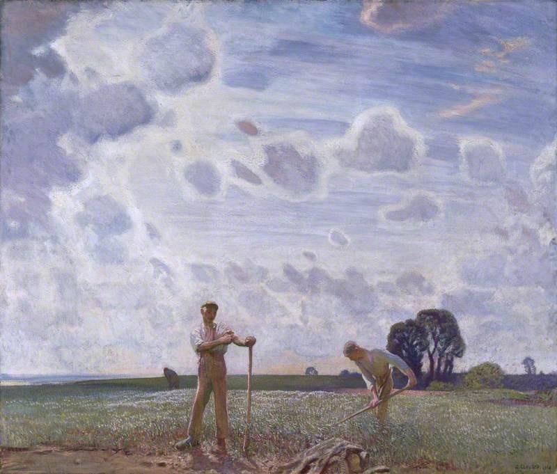 Στο χωράφι τον Ιούνιο - Sir George Clausen, RA, RWS, RI - 1914