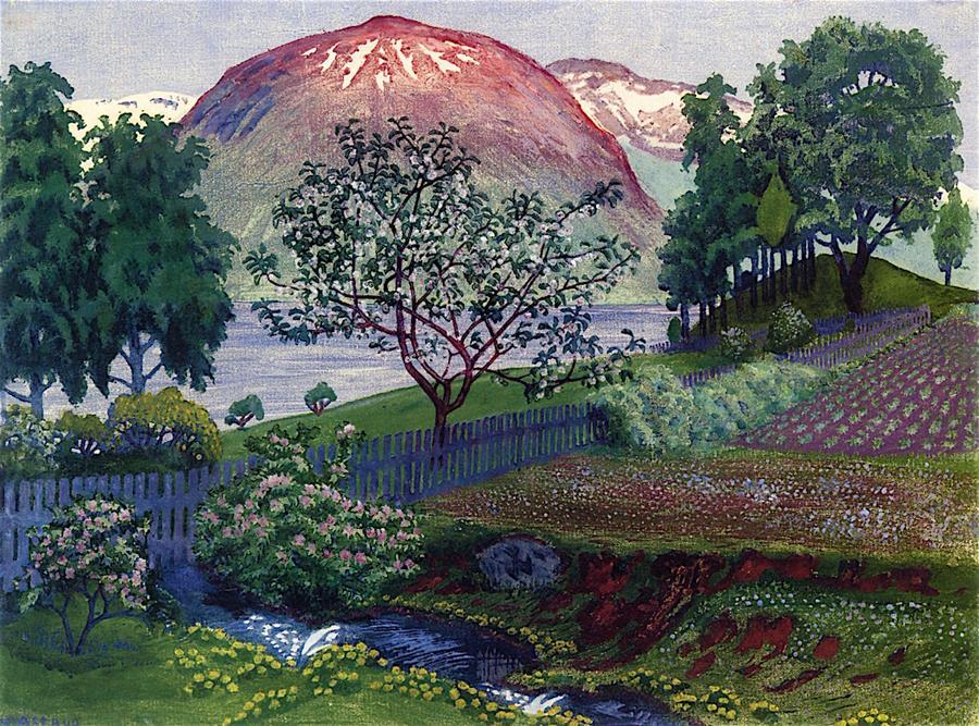Μια νύχτα τον Ιούνιο στον Κήπο- Nicolai Astrup - 1909