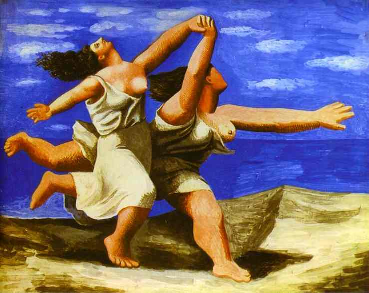 """""""Two women running on the beach, the race"""" Pablo Picasso"""