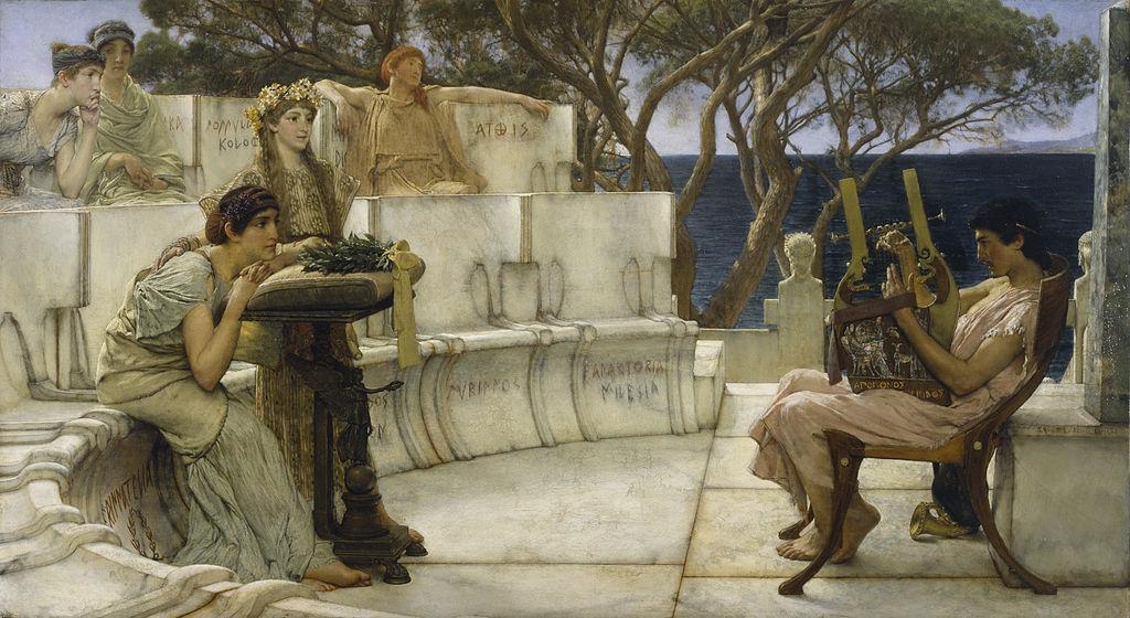 Σαπφώ κι ο Αλκαίος στη Λέσβο - Lawrence Alma-Tadema- 1881