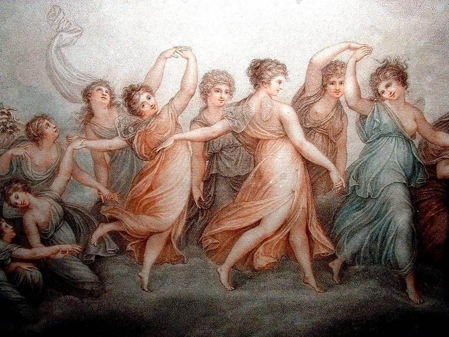 """λεπτομέρεια από τις """"Ώρες"""" του Francesco Bartolozzi"""