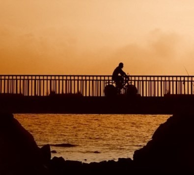 bicycling-sunset-2