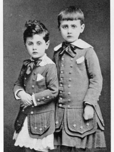 Μαρσέλ Προυστ (δεξιά) με τον αδερφό του Robert