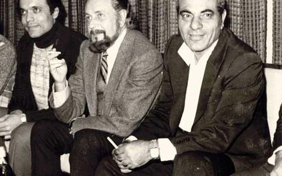 Με τον Στέλιο Καζαντζίδη και τον Λάκη Χαλκιά