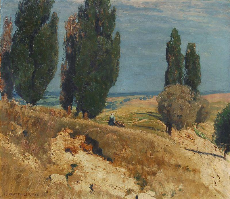 μεσογειακό τοπίο προς το τέλος του καλοκαιριού - Eugen Felix Prosper Bracht - 1894