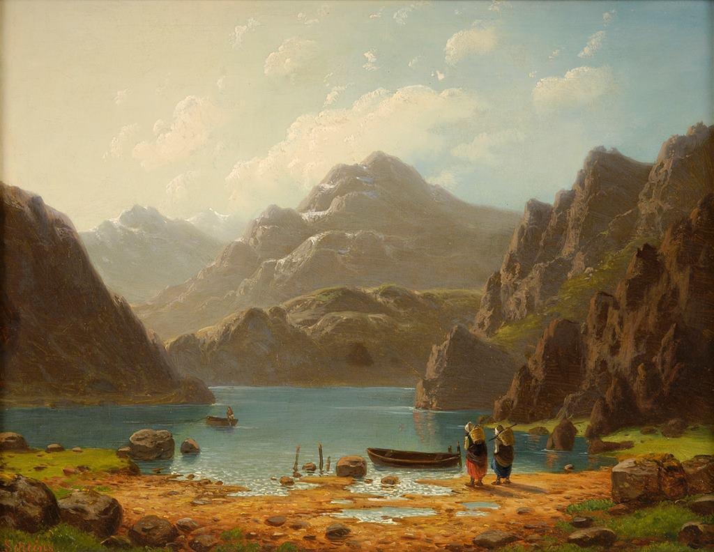 προς το τέλος του καλοκαιριού στη λίμνη - Carl Ludwig Scheins