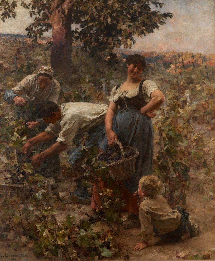 ο τρύγος - Lεon Augustin Lhermitte - 1884