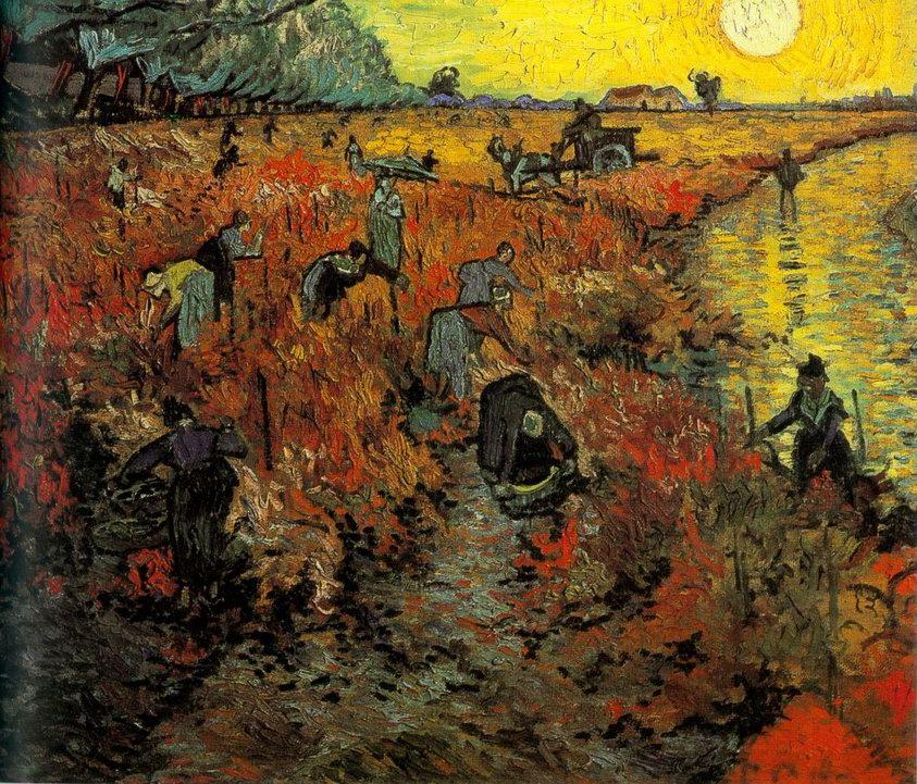 Βαν Γκονγκ - Το κόκκινο αμπέλι - (1888)