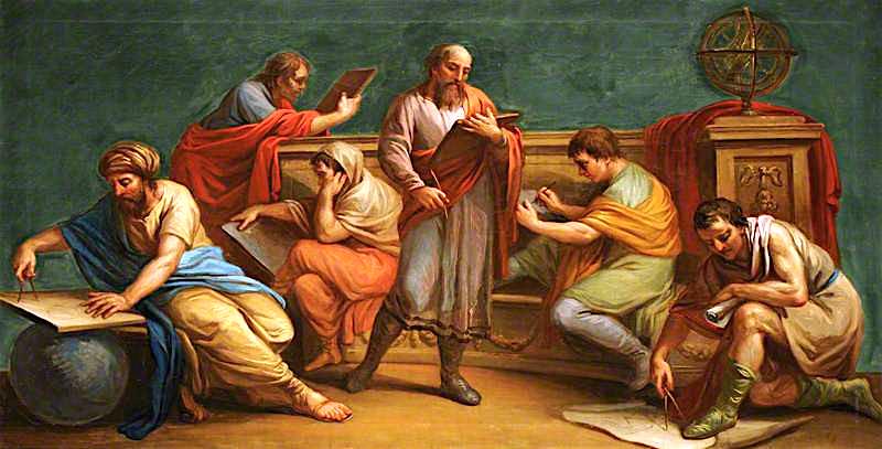 Ένας Έλληνας φιλόσοφος και οι μαθητές του Antonio Zucchi - 1767