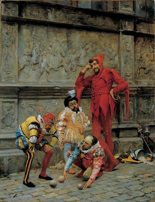 "Eduardo Zamacois - Jesters Playing ""Cochonnet"""