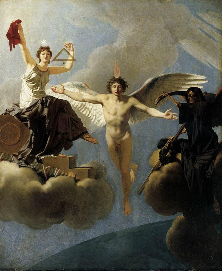 Η διανόηση της Γαλλίας μεταξύ Ελευθερίας και Θανάτου Jean-Baptiste Regnault - 1795