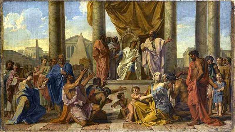Ο Πτολεμαίος Φιλάδελφος δίνει την ελευθερία στους Εβραίους - Noεl Coypel - 1675