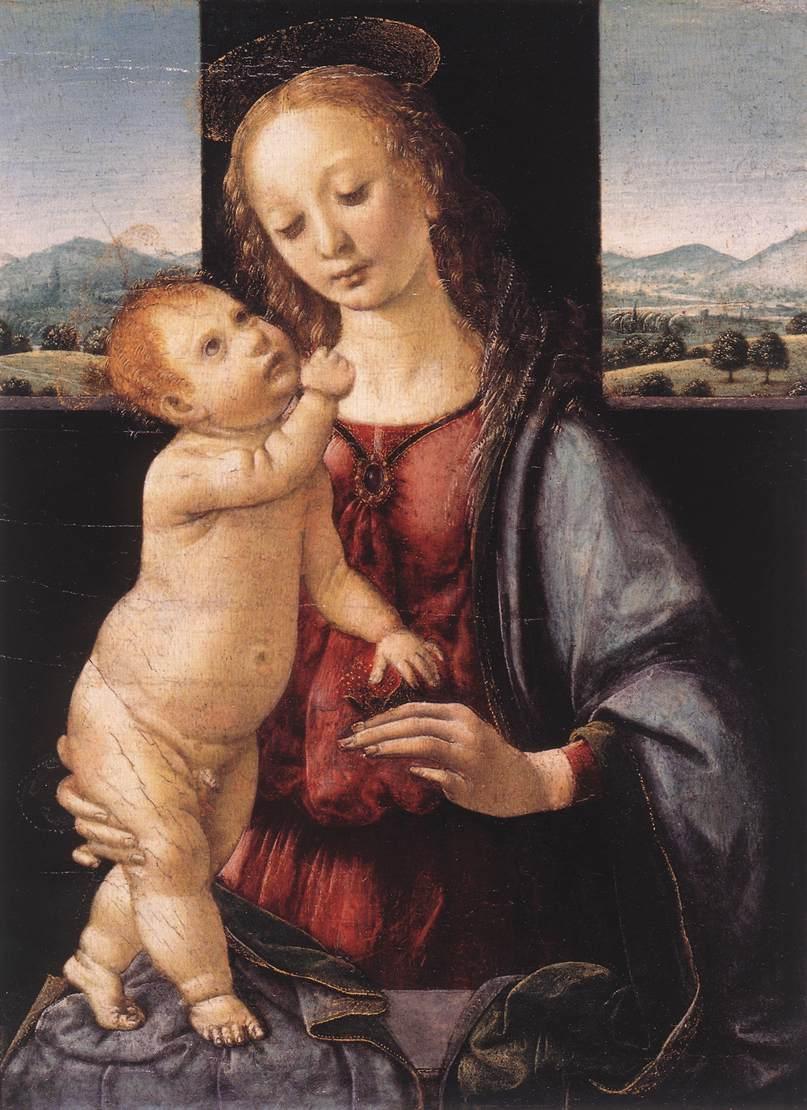 Παναγία και παιδί με Ρόδι (Επίσης γνωστό σαν The Dreyfus Madonna) Lorenzo di Credi - 1480