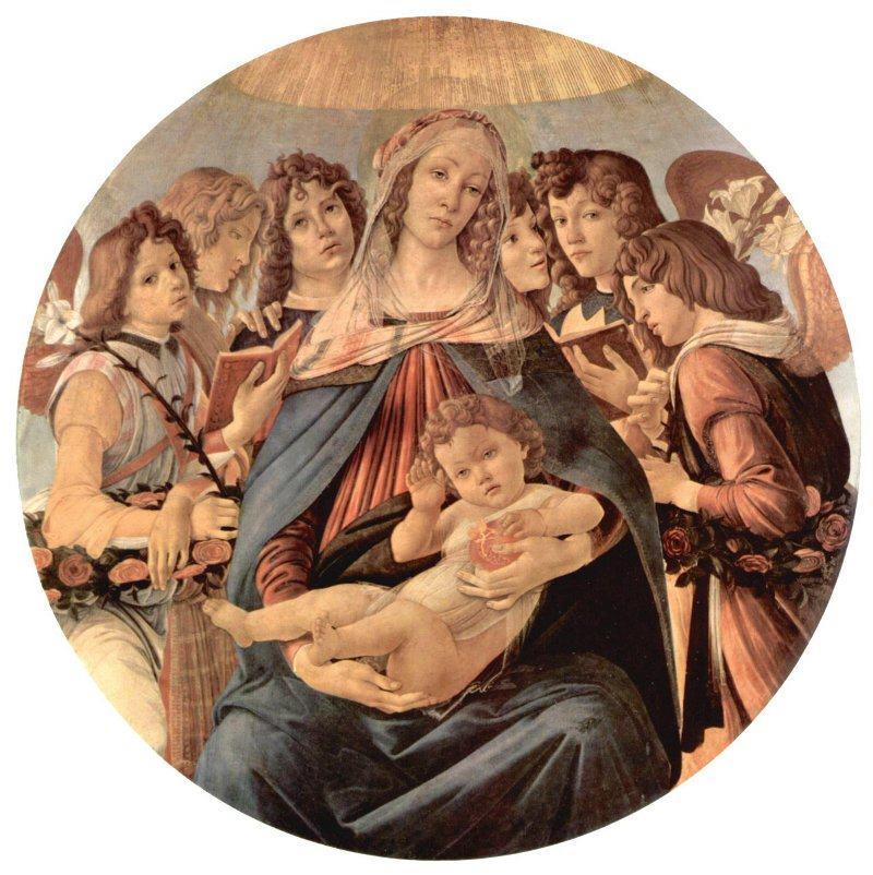 Η Παναγία των Ροδιών Sandro Botticelli - 1487