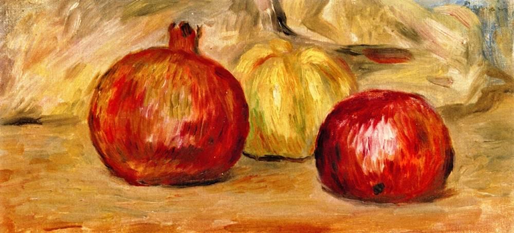 Ρόδια και μήλο Pierre Auguste Renoir - 1901
