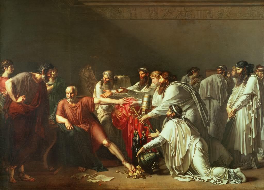 O Ιπποκράτης αρνείται τα δώρα του Αρταξέρξη (μελέτη) Αν-Λουί Ζιροντέ-Τριοζόν - γύρω στο 1791-1792