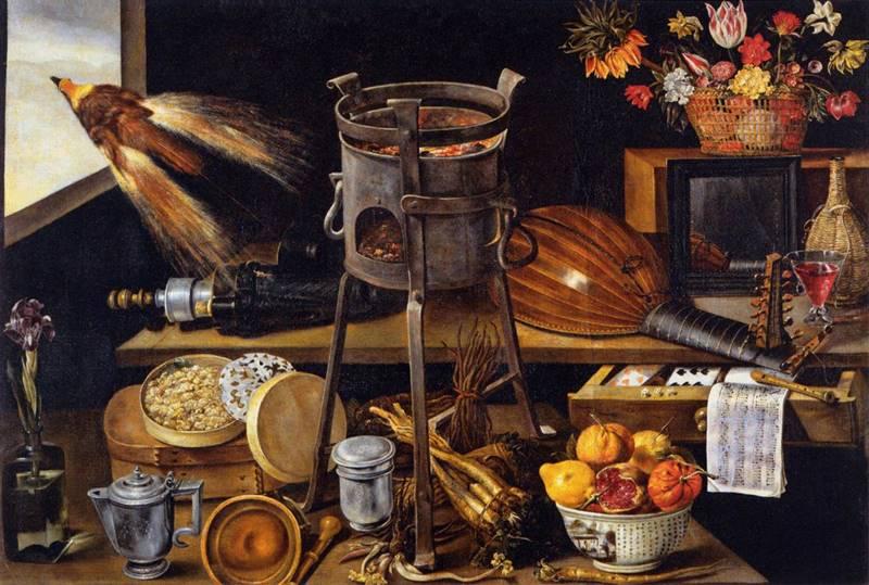 Oi πέντε αισθήσεις και τα τέσσερα στοιχεία - Jacques Linard - 1627