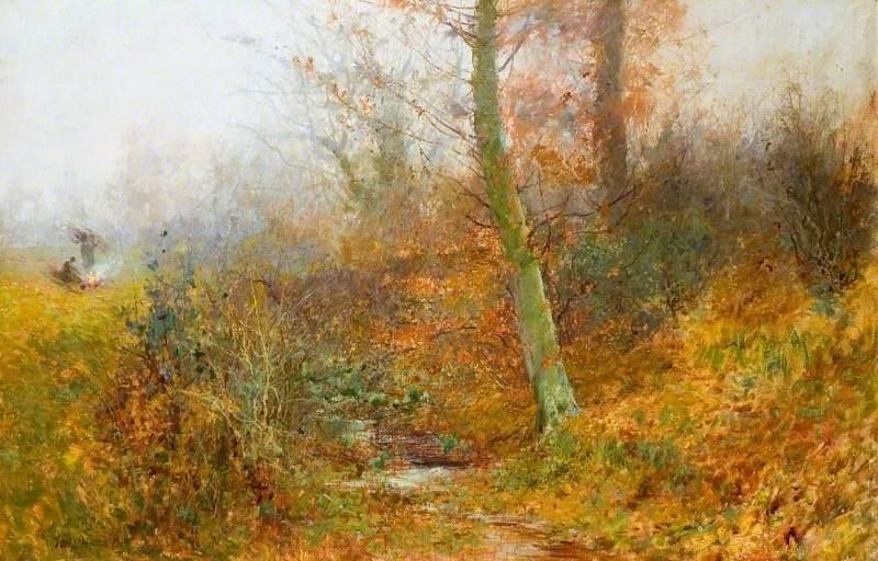 φύλλα του φθινοπώρου , Bushey Thomas Edwin Mostyn - 1893