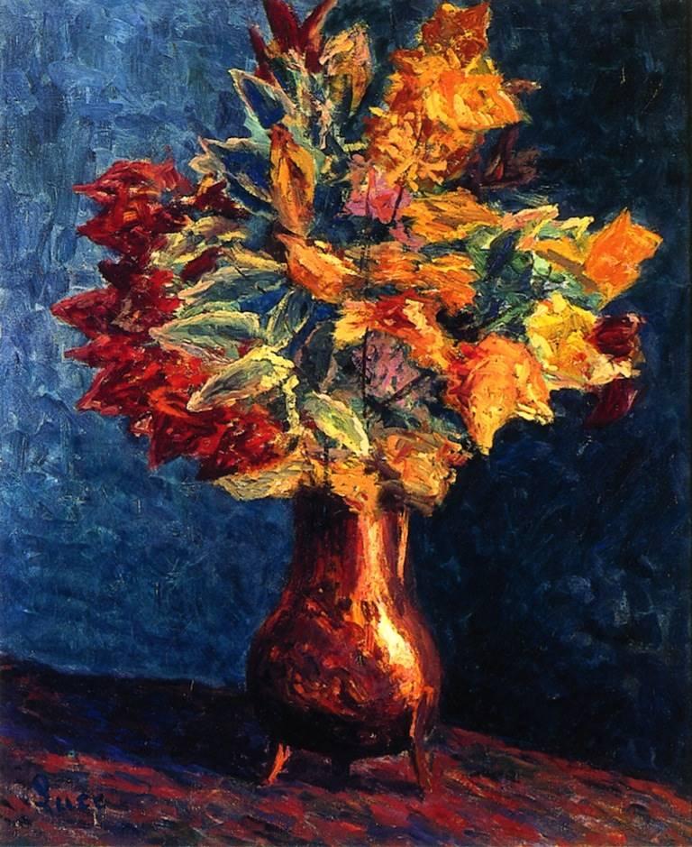 Μπουκέτο Φθινοπωρινών Φύλλων σ ένα χάλκινο δοχείο - Maximilien Luce