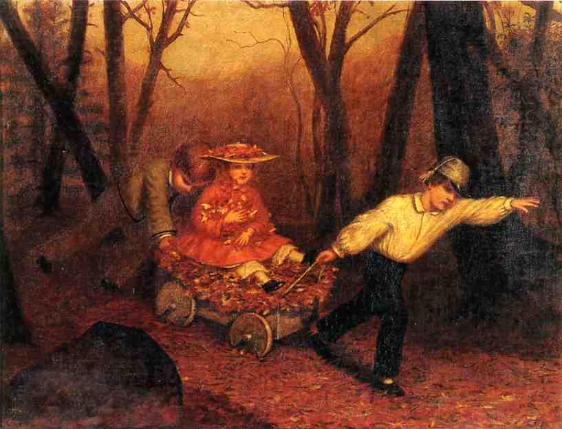 μαζεύοντας Φθινοπωρινά Φύλλα - Enoch Wood Perry - 1858