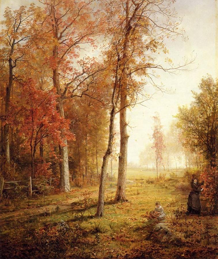 συλλέγοντας φύλλα - William Trost Richards - 1876