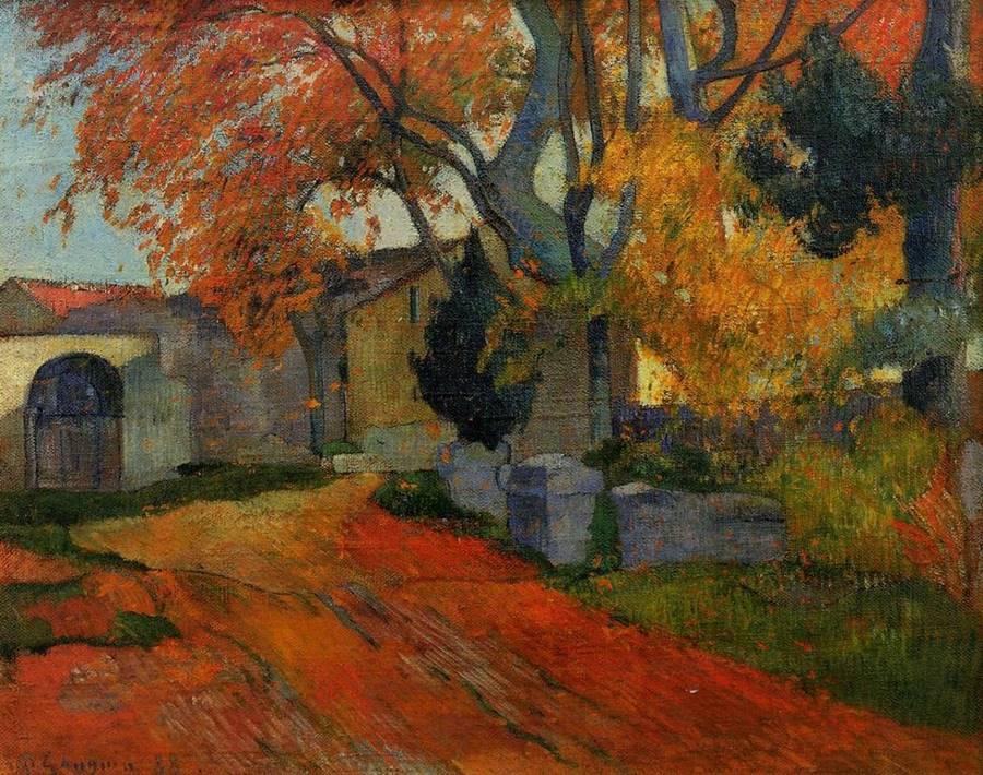 Gauguin Lane_at_Alchamps_Arles_1888_Paul_Gauguin