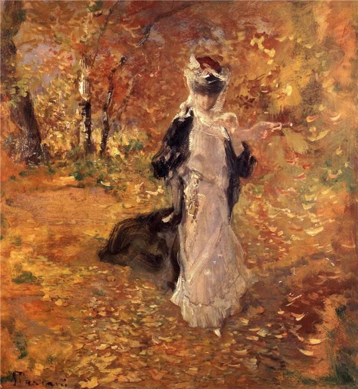 Φθινόπωρο. Η πτώση των φύλλων - Pompeo Mariani - 1906