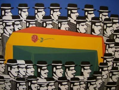 Η κηδεία του Τσε Γκεβάρα (μεταμόρφωση) λάδι σε μουσαμά 1968