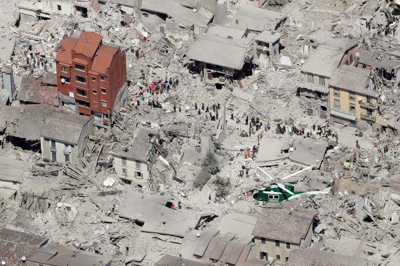 Ιταλία: Σεισμός στο Αματρίτσε 24/8 (AP Photo/Gregorio Borgia, File)