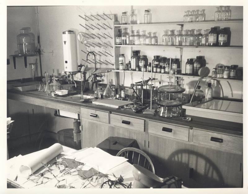 Το εργαστήριο της Φράνκλιν στοΚολλέγιοΒirkbeck,φωτογραφημένολίγο μετά τον θάνατό της