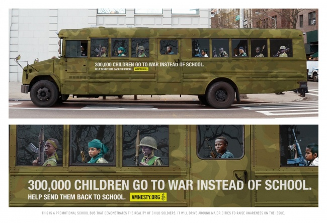 300.000 παιδιά πηγαίνουν στον πόλεμο αντί στο σχολείο.